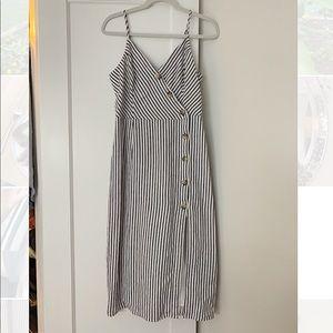 Abercrombie & Fitch Open Slit Midi Dress